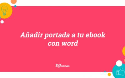 Añadir portada a tu ebook con word