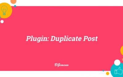 Plugin: Duplicate Post